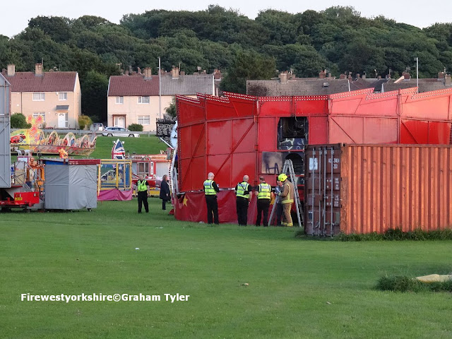 The scene in Bowling Park, Funfair,