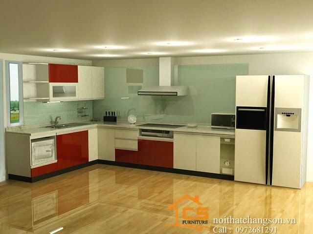 Hình Ảnh Tủ Bếp Đẹp Do Nội Thất Chàng Sơn Thiết Kế Và Thi Công