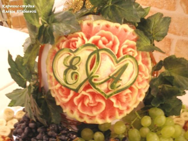 карвинг фруктов фуршет