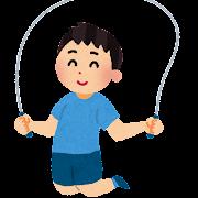 縄跳びを飛んでいる男性のイラスト
