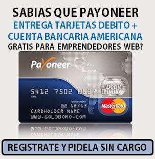 Tarjeta de débito y cuenta de banco gratis
