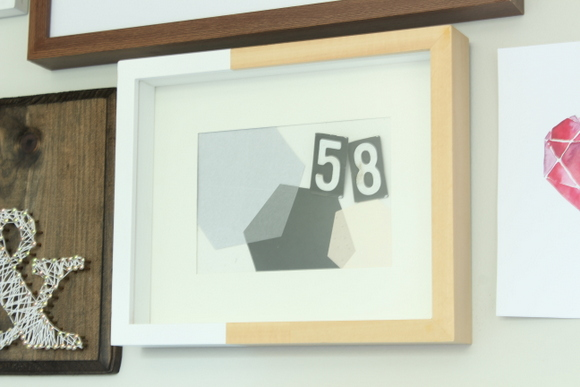 Modern hexagon printable office artwork.