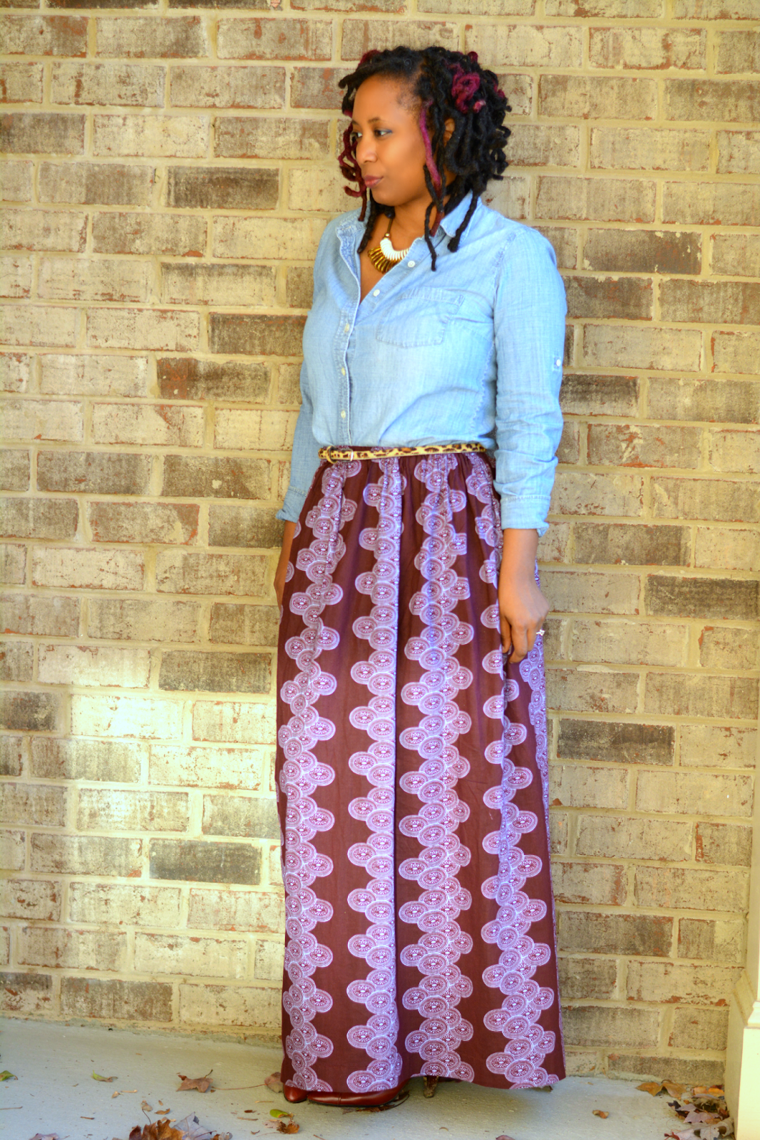 diy ankara skirt