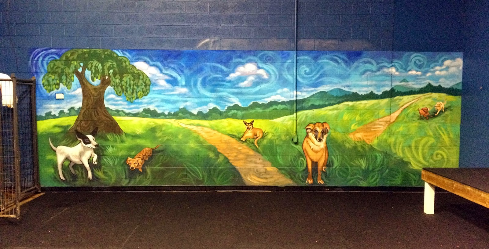 the talking walls doggie daycare mural preschool wall murals daycare murals playroom mural