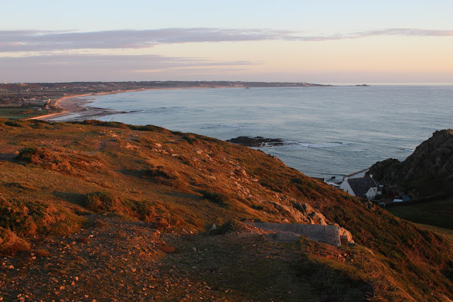 An evening view over St Ouen's Bay Jersey