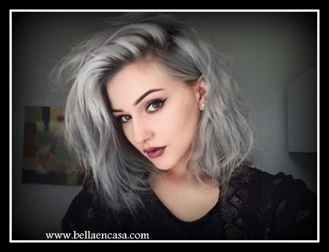Estilos de cabello plateado entre los que puedes elegir !!