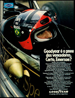 good year.  brazilian advertising cars in the 70. os anos 70. história da década de 70; Brazil in the 70s. propaganda carros anos 70. Oswaldo Hernandez.