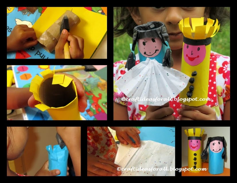 Craft ideas for all toilet paper roll tube puppets for Toilet roll puppets