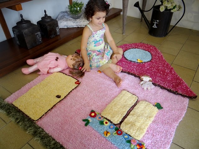 Passo a Passo Tapetes de crochê para quarto infantil  ~ Tapete Infantil Para Quarto Urso