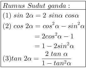 Rumus Rumus Trigonometri Belajar Matematika Online