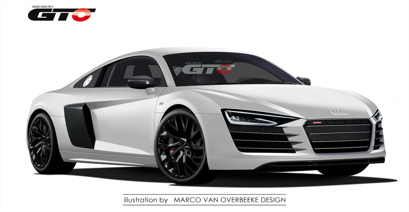new 2016 audi r8 illustration looks like the real thing