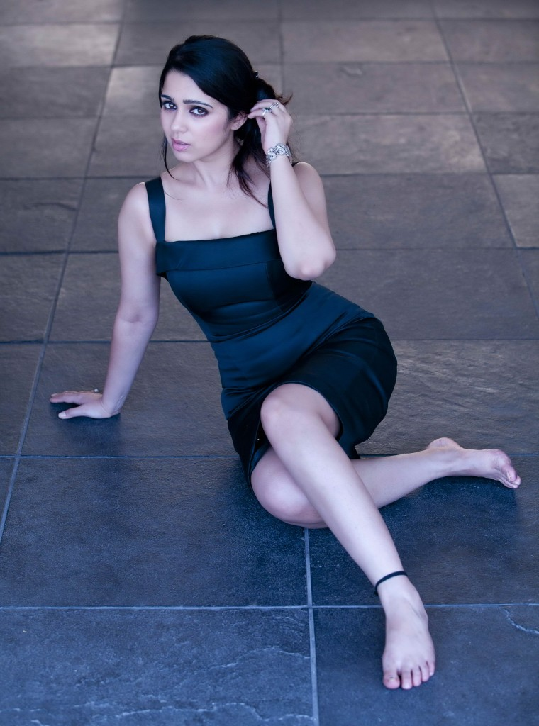 charmi kaur in black dress