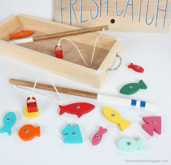 That 39 s my letter diy fishing game for Easy fishing games