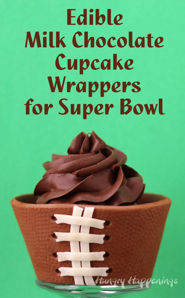 Chocolate Football Cupcake Wrappers | HungryHappenings.com
