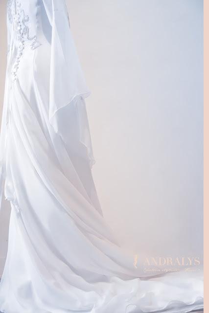robe de mariée elfique et médiévale