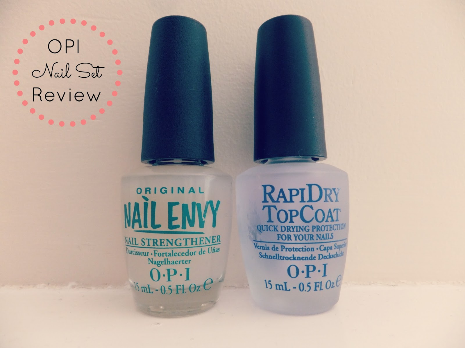 Fern & Blush: Review | OPI Original Nail Envy & RapiDry Top Coat