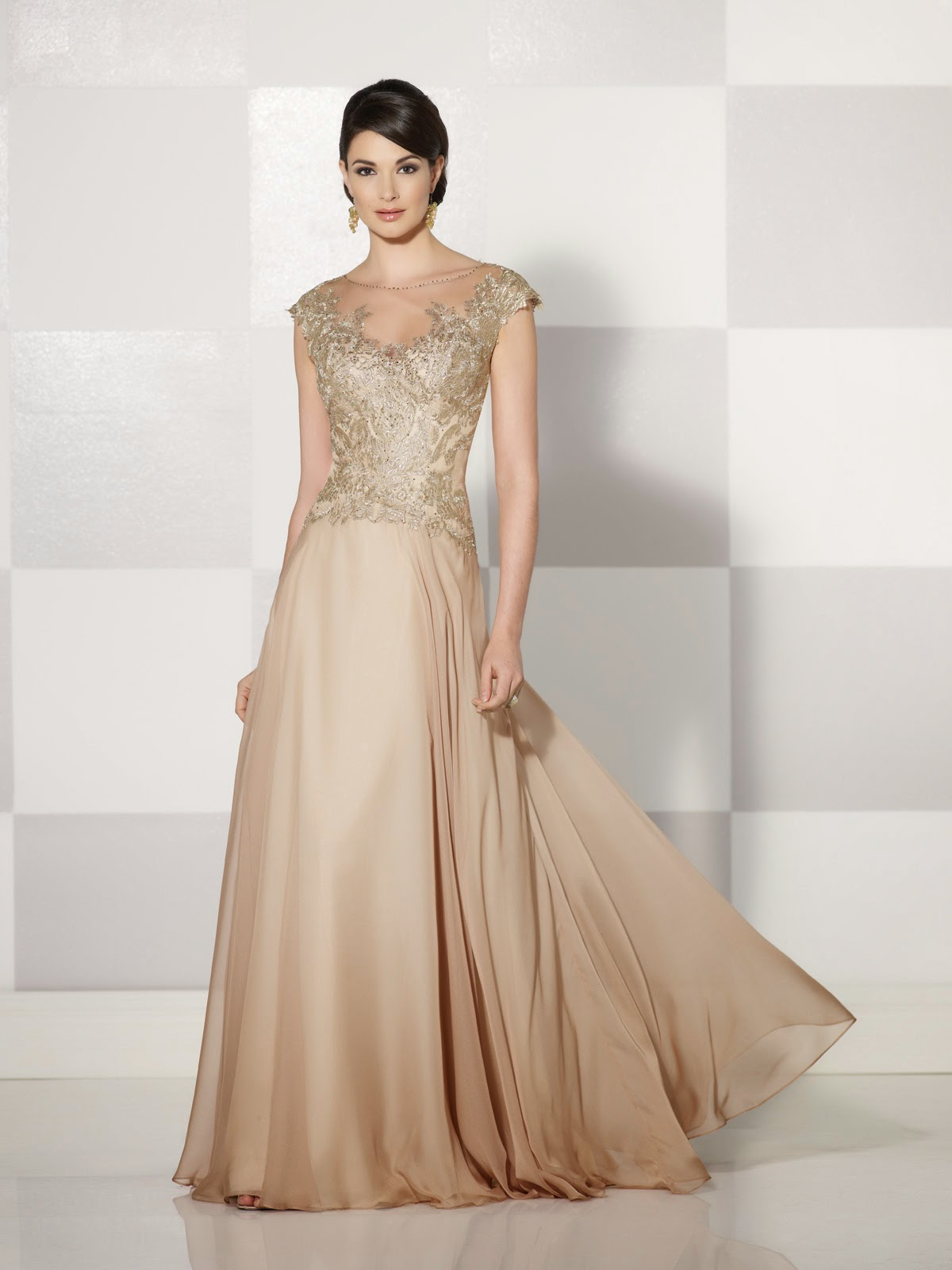 Mother of the Bride Dresses by Cameron Blake Fall 2014 brown