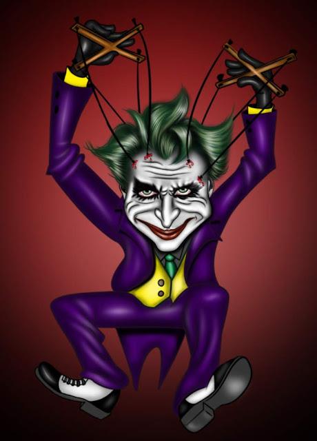Desenho fantástico do personagem do batman coringa