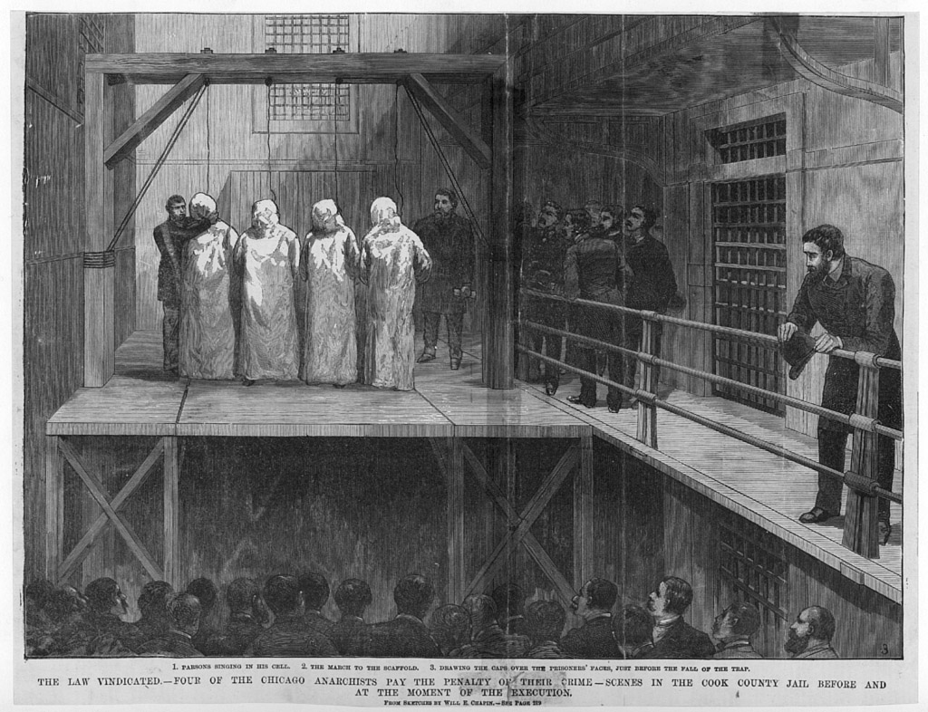 execution of Chicago anarchists