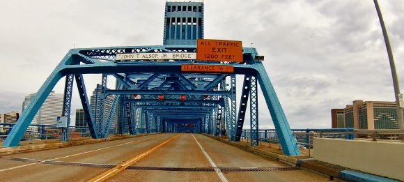 Main Street Bridge in Jacksonville, Florida USA