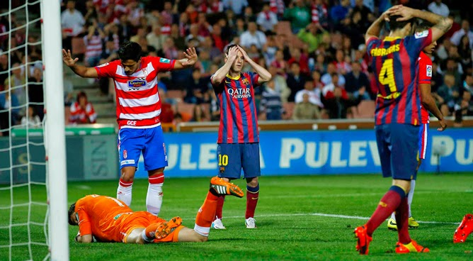 El Barça tocado y hundido tras su paso por Granada.