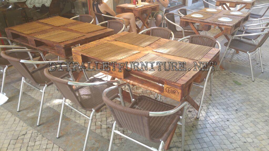 Mueblesdepaletsnet Bar restaurante amueblado con palets en Cascais