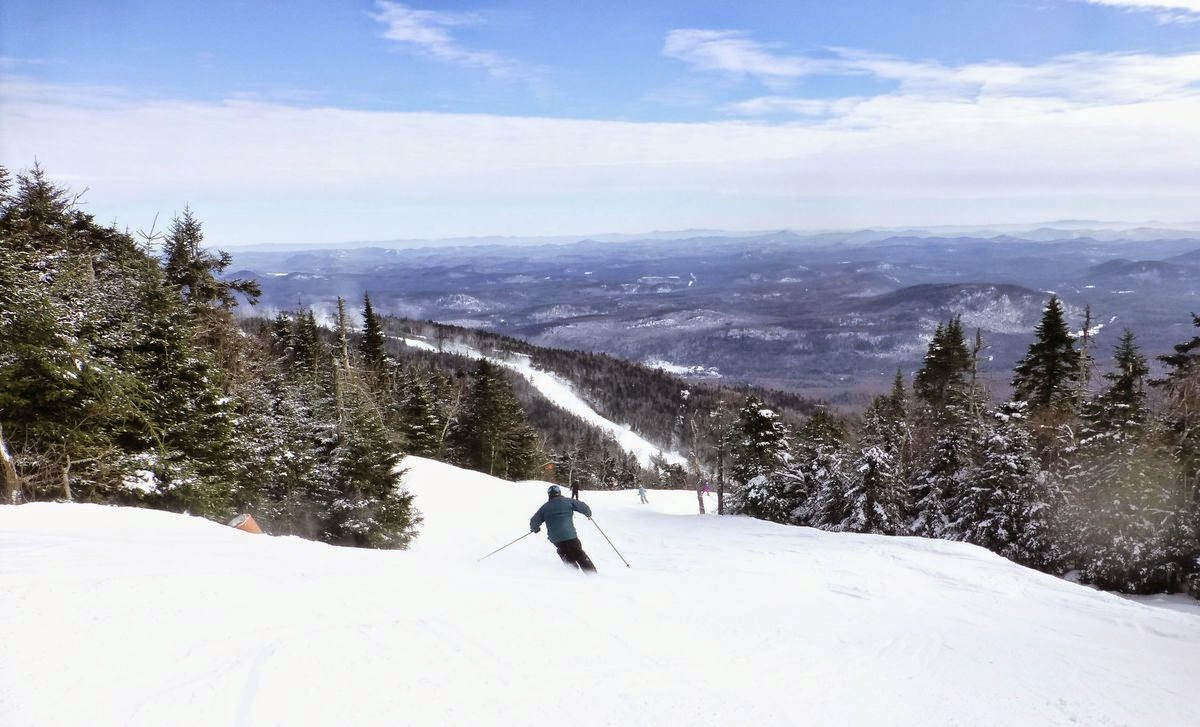 Skier on Hawkeye, Gore Mountain, Saturday 01/17/2015.  The Saratoga Skier and Hiker, first-hand accounts of adventures in the Adirondacks and beyond, and Gore Mountain ski blog.