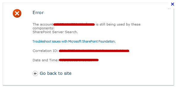 Delete Managed Account in SharePoint 2010