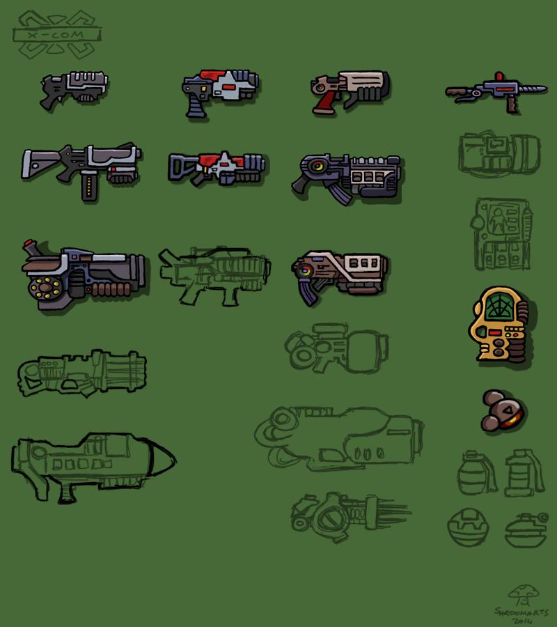X-com weapons & equipment