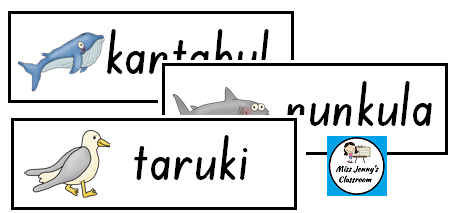 http://www.teacherspayteachers.com/Product/Boandik-language-Aboriginal-word-wall-Ocean-Theme-1617750