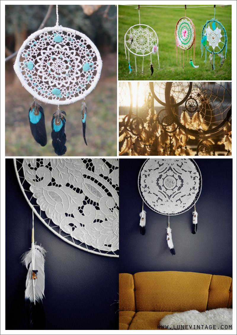 atrapasueños, dreamcatcher, tela, crochet