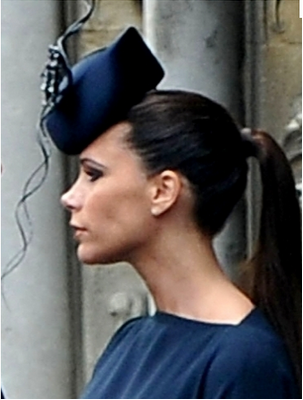 Occasion The Royal Wedding Victoria Beckham In Her Blue Hat Looked Very Stylish Flattered From All Angles A Criteria For Decision Making