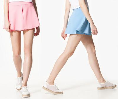 Las faldas de verano de Stradivarius