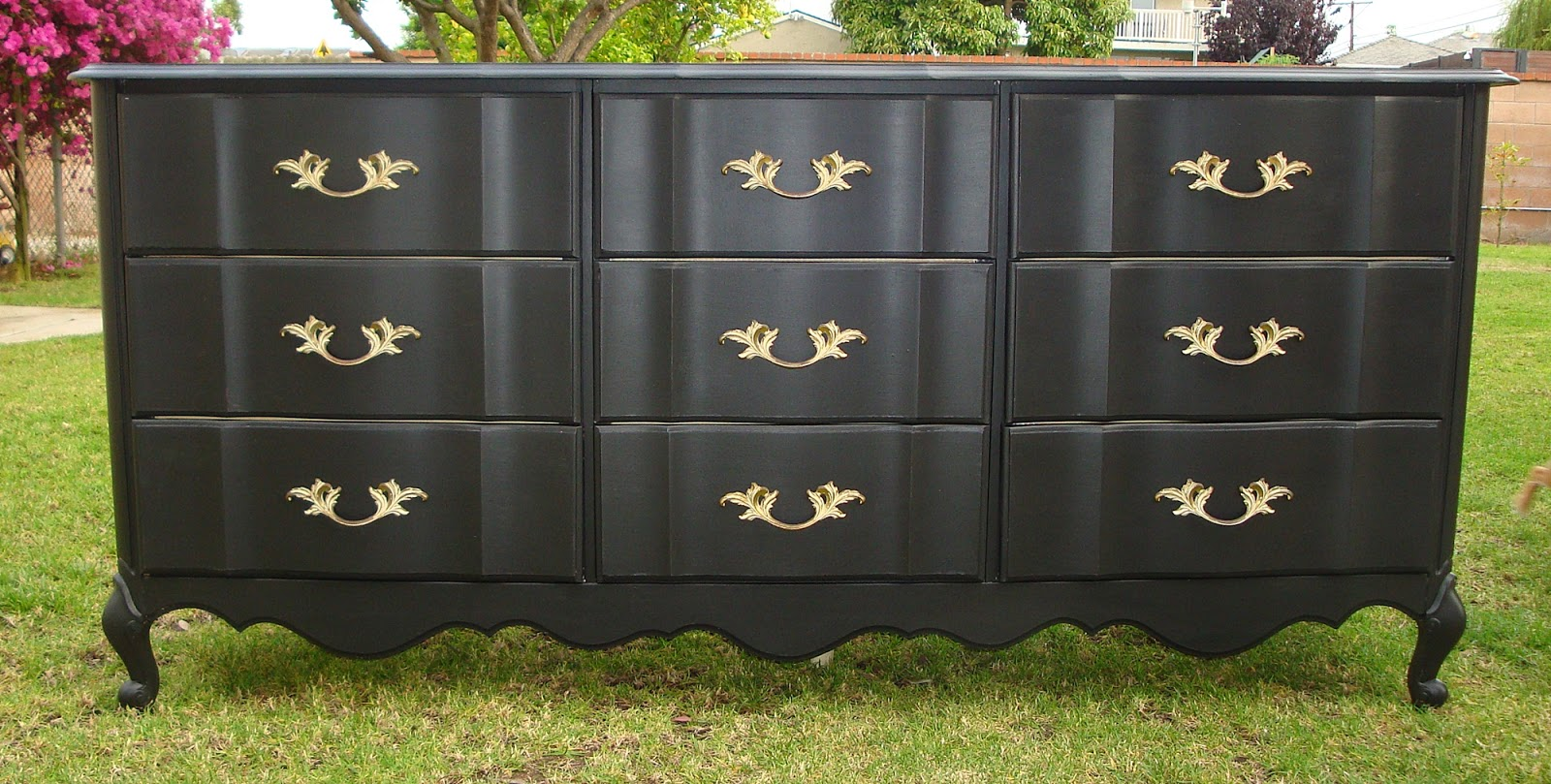 #4E5D24 SHABBY CHIC/FRENCH PROVINCIAL 9 DRAWER DRESSER COTTAGE BLACK #7001 with 1600x809 px of Brand New 9 Drawer Dresser Black 8091600 pic @ avoidforclosure.info