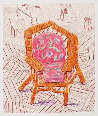 David Hockney - Number One Chair 1985-6