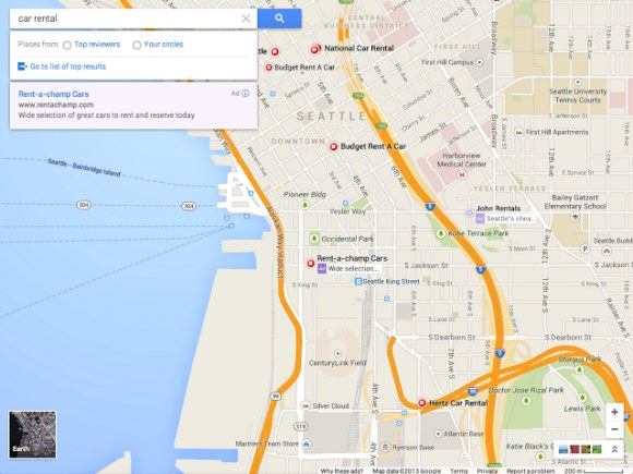 New Google Maps Interface