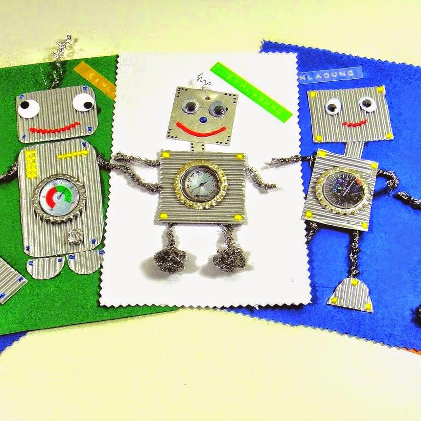 Roboter Geburtstags Einladungen