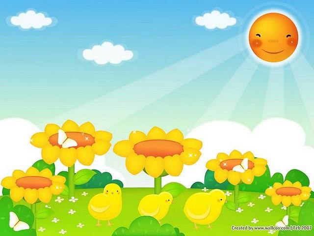... primavera imagenes infantiles para imprimir grandes nubes de primavera