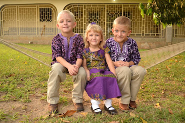 Three little missionaries to Africa