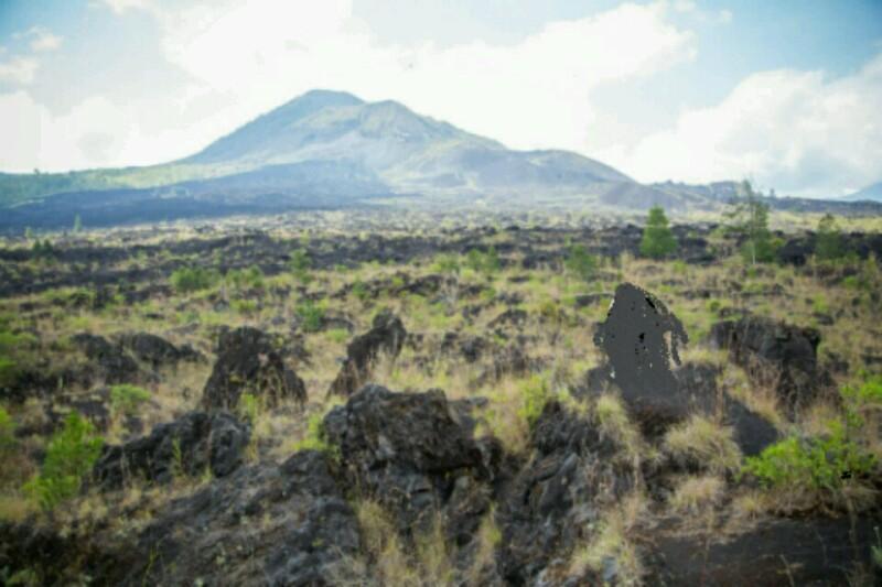 Caldera in Mount Batur Bali