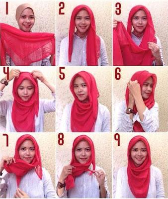 Cara Memakai Hijab Segi Empat Yang Modis dan Simple