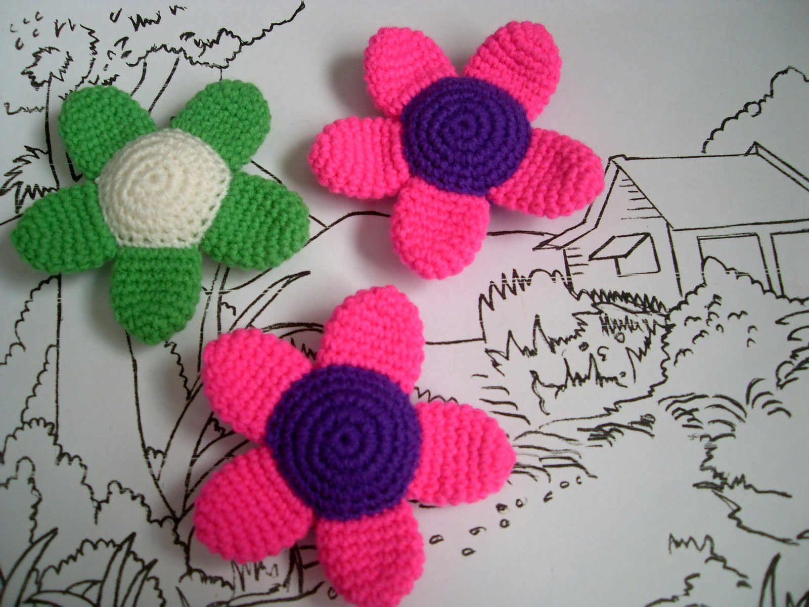 Amigurumi Flower Tutorial : Crochet.is.Fun: Free pattern: flower amigurumi