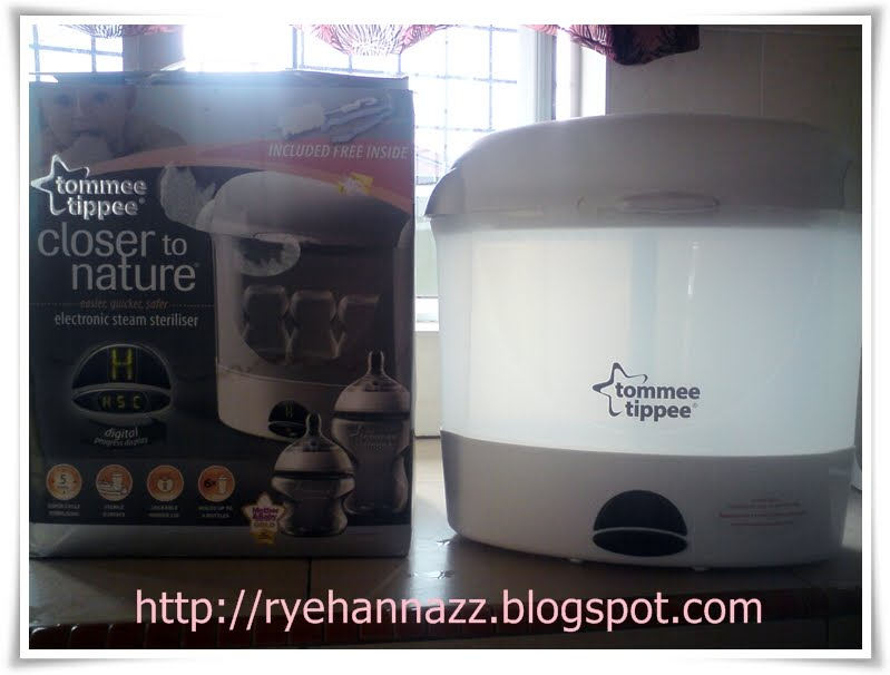 tommee tippee steam sterilizer instructions