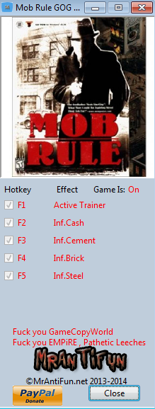 Mob Rule GOG Trainer +4 MrAntiFun