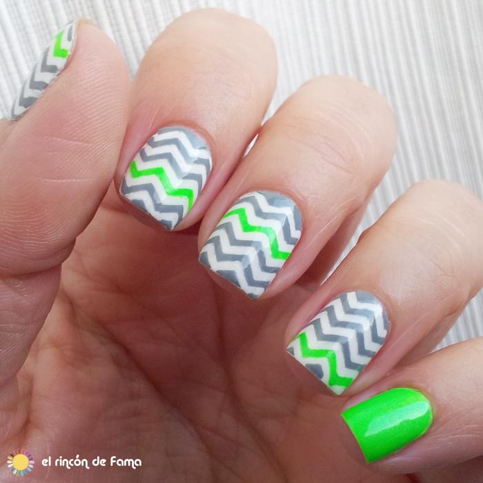 chevron  nails | el rincon de fama