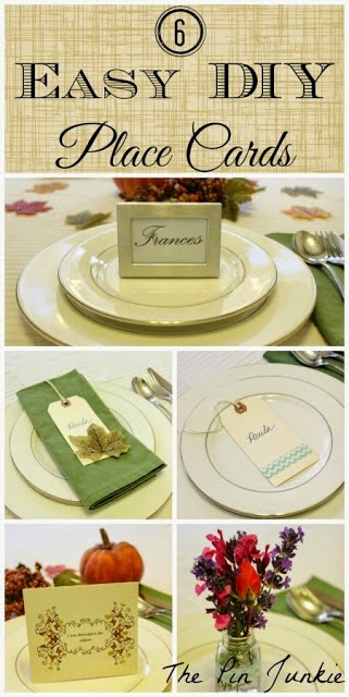 6 Easy DIY Place Cards, shared by The Pin Junkie