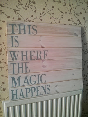 this is where the magic happens pallet wood sign