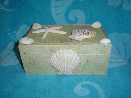 Cricut Sea Shell http://4evercarolscreations.blogspot.com/2012/06/seashell-box.html