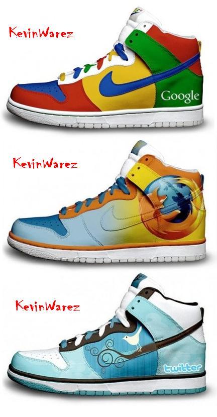 Nuevas zapatillas Nike basadas en Google, Twitter y Firefox