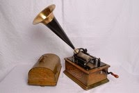 Edison with the first Phonograph